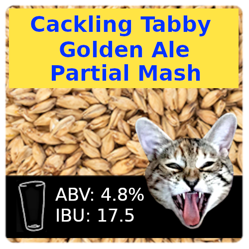 Cackling Tabby Golden Ale Partial Mash Recipe Kit