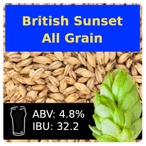 British Sunset Golden Ale All Grain Recipe Kit