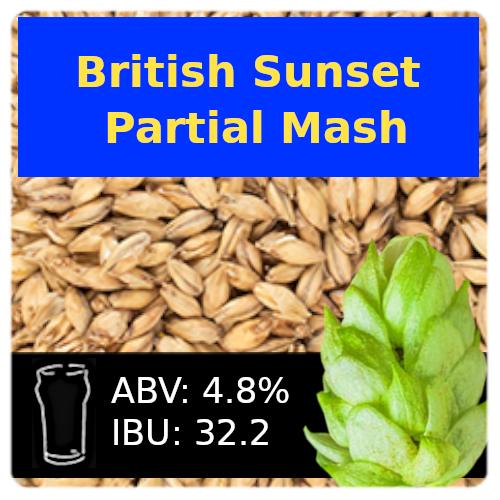 British Sunset Golden Ale Partial Mash Recipe Kit
