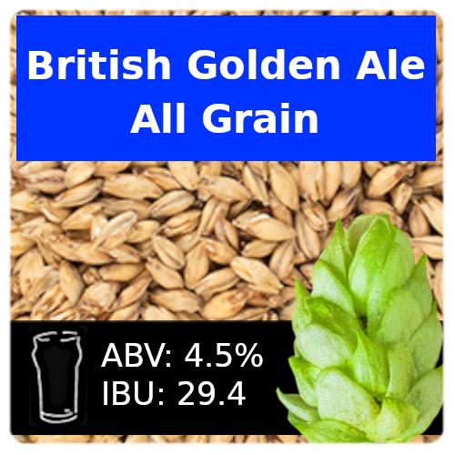 SoCo British Golden Ale All Grain Recipe Kit