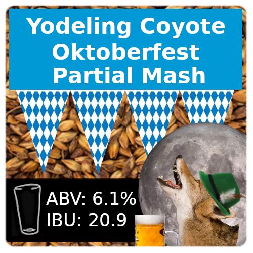 Yodeling Coyote Oktoberfest Partial Mash Recipe Kit