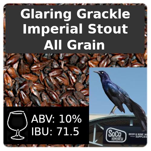 Glaring Grackle Imperial Stout All Grain Recipe Kit