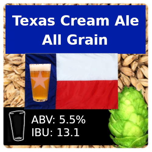 SoCo Texas Cream Ale All Grain Recipe Kit