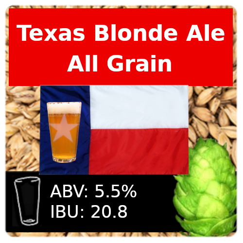 SoCo Texas Blonde Ale All Grain Recipe Kit