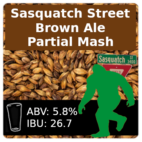 Sasquatch Street Brown Ale Partial Mash Recipe Kit