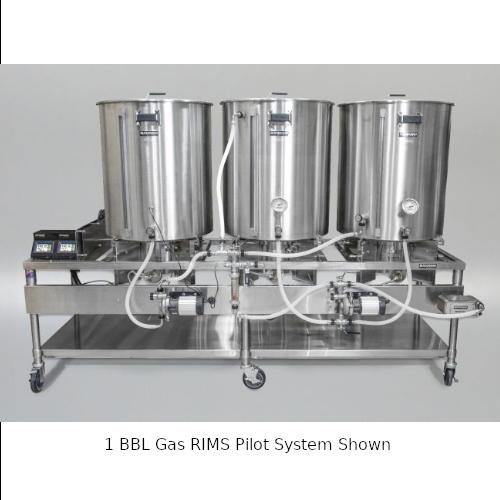 Blichmann 1 BBL Gas RIMS Pilot System with Mash Tun Manway & Chute
