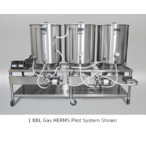 Blichmann 1 BBL Gas HERMS Pilot System with Mash Tun Manway & Chute