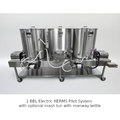 Blichmann 1 BBL Electric HERMS Pilot System With Mash Tun Manway & Chute