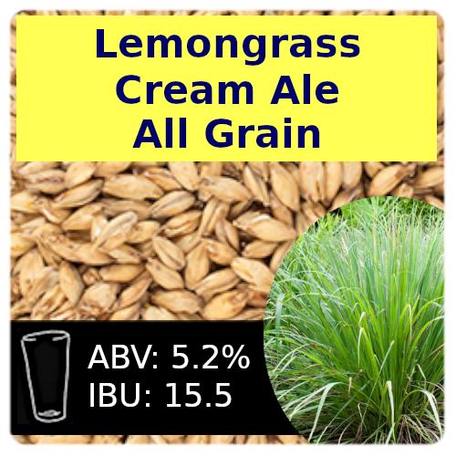 SoCo Lemongrass Cream Ale All Grain Recipe Kit
