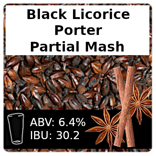SoCo Black Licorice Porter Partial Mash Recipe Kit
