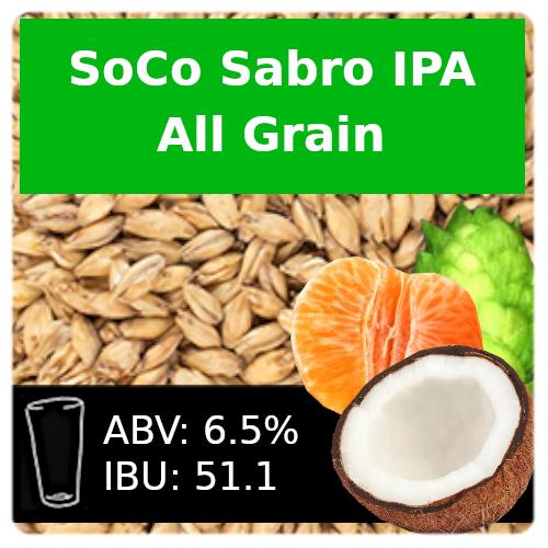 SoCo Sabro IPA All Grain Recipe Kit