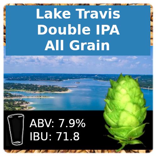Lake Travis Double IPA All Grain Recipe Kit
