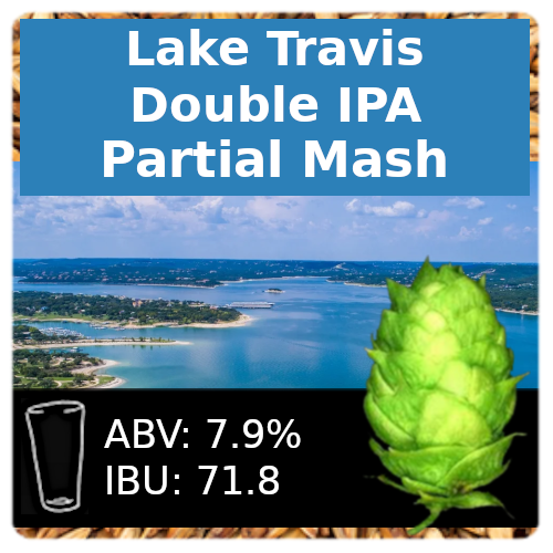 Lake Travis Double IPA Partial Mash Recipe Kit