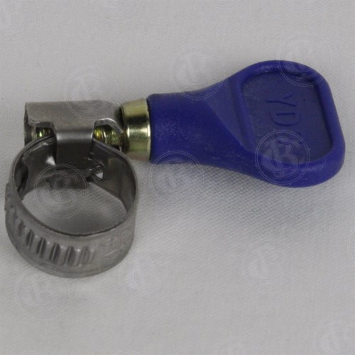 """(BLUE) Butterfly Screw Clamp for 3/8"""" Tubing"""