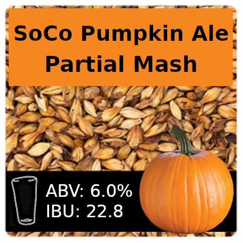 SoCo Pumpkin Ale Partial Mash Recipe Kit