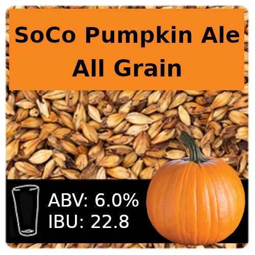 SoCo Pumpkin Ale All Grain Recipe Kit