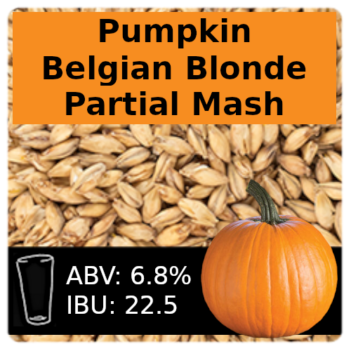 SoCo Pumpkin Belgian Blonde Ale Partial Mash Recipe Kit