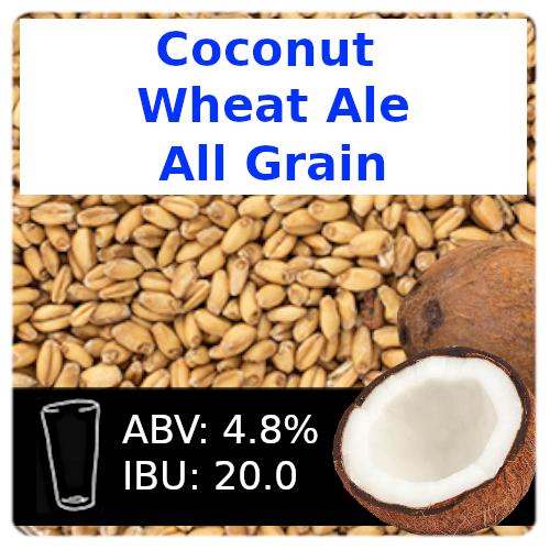 SoCo Coconut Wheat Ale All Grain Recipe Kit