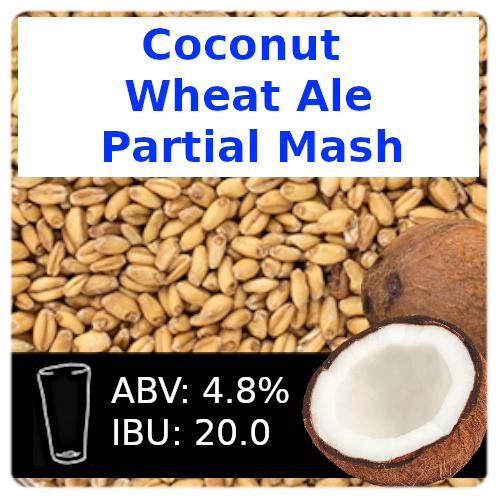 SoCo Coconut Wheat Ale Partial Mash Recipe Kit