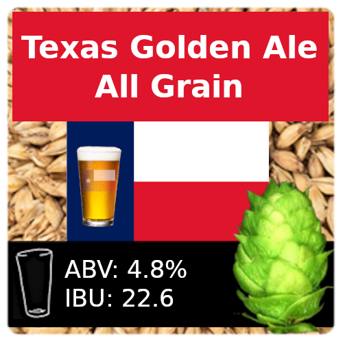 SoCo Texas Golden Ale All Grain Recipe Kit