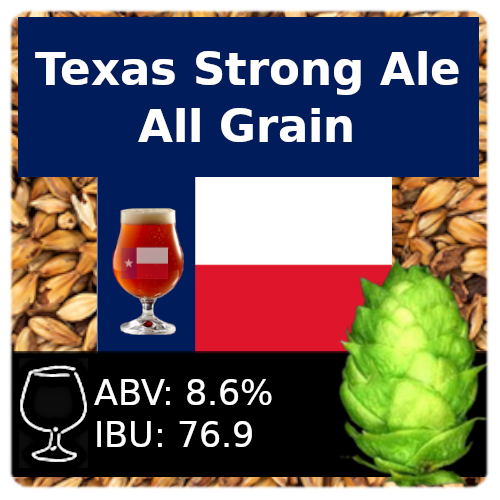 SoCo Texas Strong Ale All Grain Recipe Instructions