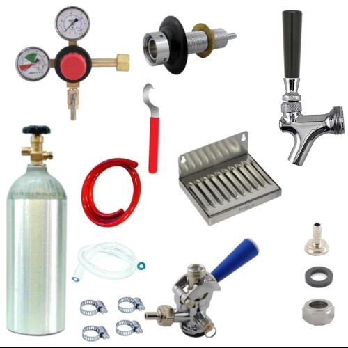 Refrigerator Door Kegerator Conversion Kit with 1 Faucet & Sankey Coupler
