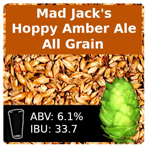 Mad Jack's Hoppy Amber Ale (AHA LTHD) - All Grain