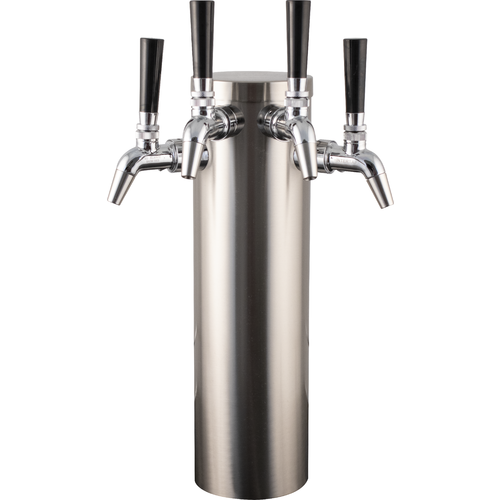 4 tap tower with Stainless Intertap faucets