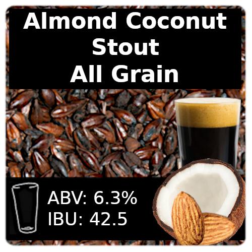 SoCo Almond Coconut Stout - All Grain