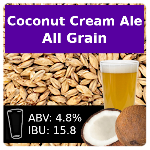 Coconut Cream Ale - All Grain