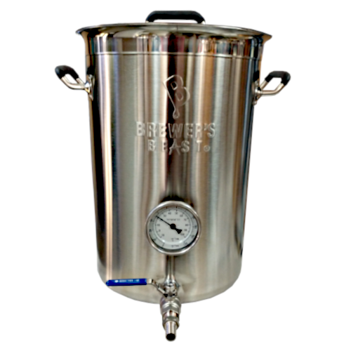 Brewer's Beast 8 Gallon Kettle with Spigot & Thermometer
