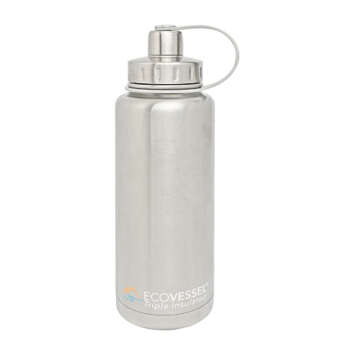 Boulder Triple Insulated Stainless Steel 32 oz Silver Growler