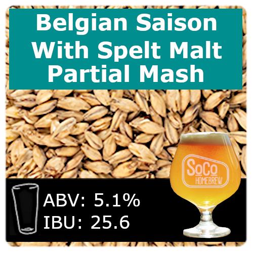SoCo Belgian Saison with Spelt Malt - Partial Mash