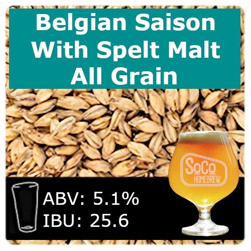 SoCo Belgian Saison with Spelt Malt - All Grain