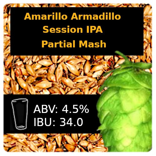 SoCo - Amarillo® Armadillo Session IPA - Partial Mash