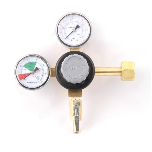 CO2 Regulator - Taprite 2 Gauge - Single Body (Gray Knob)