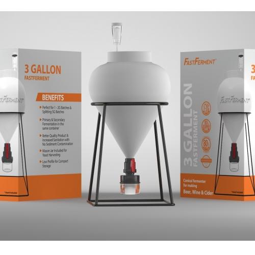 3 Gallon FastFerment Conical Fermentor