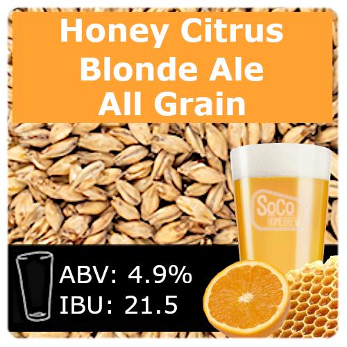 SoCo Honey Citrus Blonde Ale - All Grain