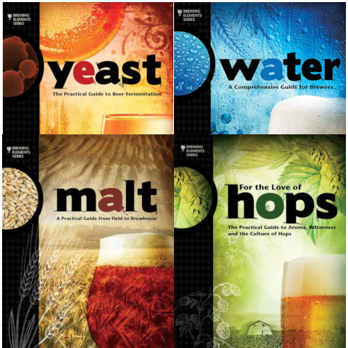 Yeast, Water, Malt, and Hops Book Collection