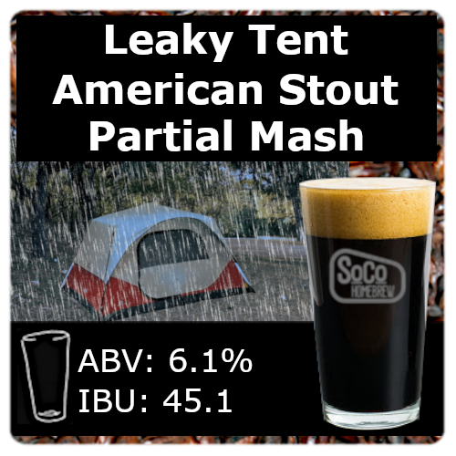 Leaky Tent American Stout - Partial Mash