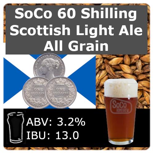 SoCo 60 Shilling Scottish Light Ale - All Grain