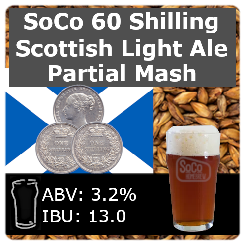 SoCo 60 Shilling Scottish Light Ale - Partial Mash