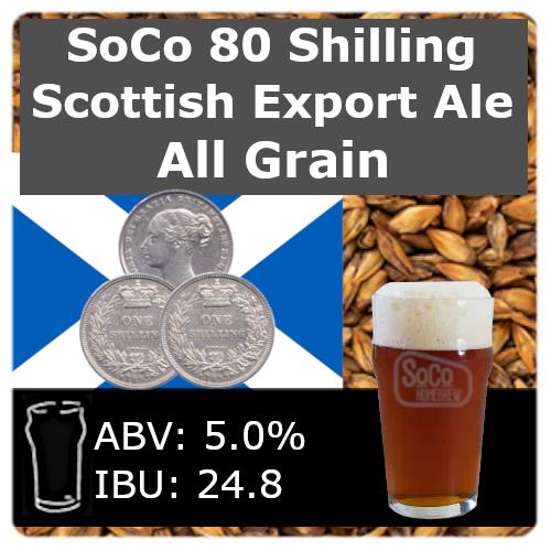 SoCo 80  Shilling Scottish Export Ale - All Grain