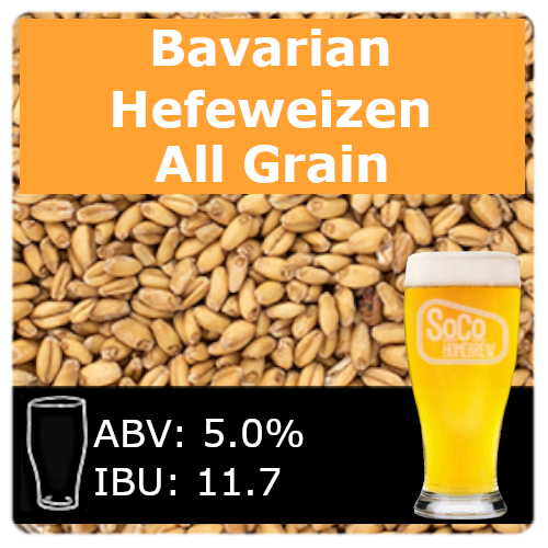 SoCo Bavarian Hefeweizen - All Grain