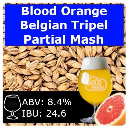 SoCo Blood Orange Belgian Tripel - Partial Mash