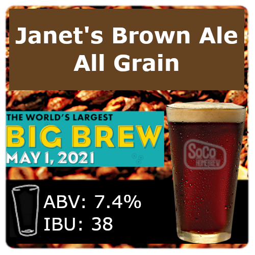 Janet's Brown Ale - All Grain