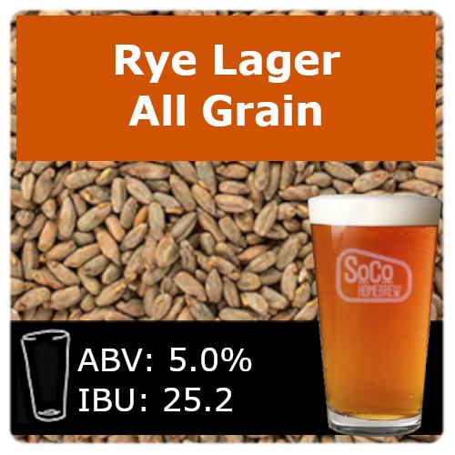 SoCo Rye Lager - All Grain