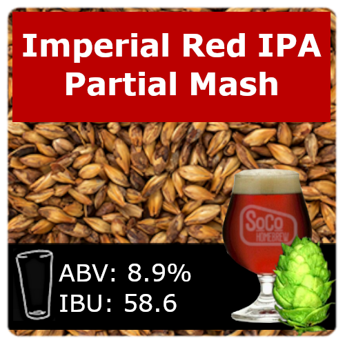 SoCo Imperial Red IPA Ale - Partial Mash
