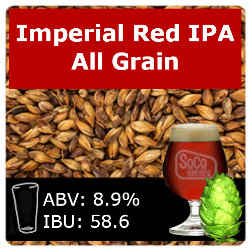 SoCo Imperial Red IPA Ale - All Grain