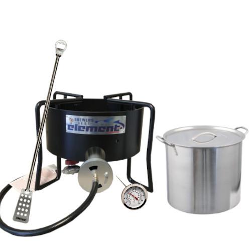 Homebrew Brewing Starter Kit with Element Burner & 5 Gallon Pot